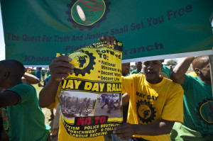 The May Day rally at Wonderkop Stadium: By Delwyn Verasamy