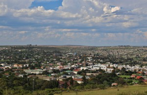 Grahamstown from the Monument