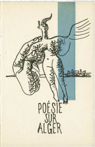 Le Corbusier, cover for Poésie sur Alger, 1950. © F.L.C./ADAGP, Paris/Artists Rights Society [ARS], New York.