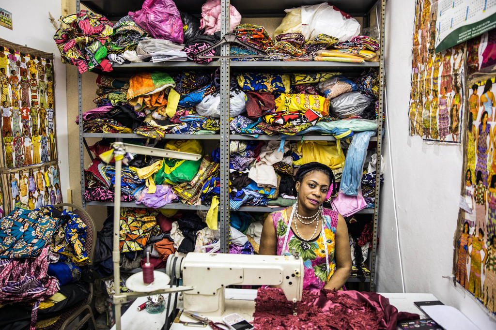 December 13, 2016. Chantal Nsunda was born in Angola but moved to the Democratic Republic of Congo (DRC) when she was much younger. She left the DRC for South Africa for 19 years ago and now runs a small but successful dress making business in Yeoville, Johannesburg. Picture: James Oatway